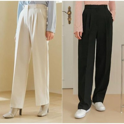 common unique レディース パンツ Dart Tuck Loose Slacks
