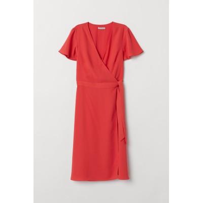 H&M - ラップドレス - レッド
