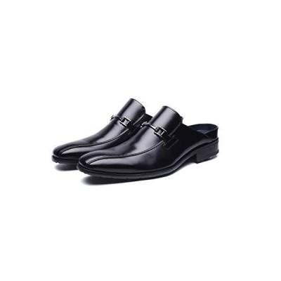 [TOKYO BROTHER] [東京ブラザー] メンズ ビジネスサンダル 紳士靴 クッション性 オフィス スリッポン 防滑 (28 BLACK)