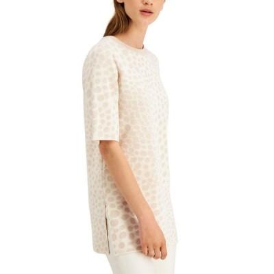 アルファニ レディース ニット・セーター アウター Printed Crewneck Sweater