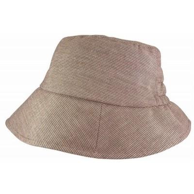 ハット 春夏 ROSINANTE TOMストライプ273 グレー・ベージュ・ブラウン M/L/LL/3L/4L 日本製 帽子 ろしなんて工房
