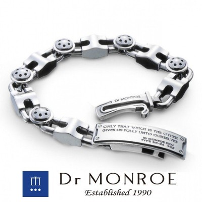 ドクターモンロー ブレスレット メンズ ブランド シルバー メカニカルIDブレスレット メカ メカニカル 機械 Dr MONROE 人気