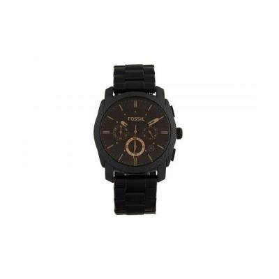 Fossil フォッシル メンズ 男性用 腕時計 ウォッチ ファッション時計 Machine Three-Hand Watch - FS4682IE Black Stainless Steel
