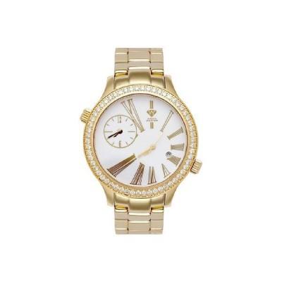 NEW! Aqua Master Men's Rio Two-Time-Zone Diamond Watch, 2.45 ctw 並行輸入品