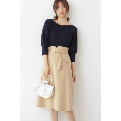 【プロポーションボディドレッシング/PROPORTION BODY DRESSING】 ◆ベルト付きロングスカート