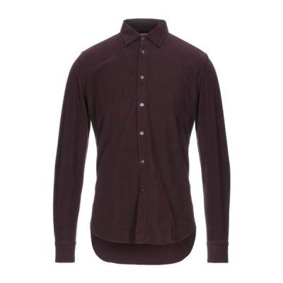 BOGLIOLI 無地シャツ  メンズファッション  トップス  シャツ、カジュアルシャツ  長袖 ボルドー