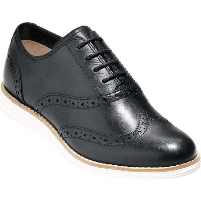 コールハーン Cole Haan レディース ローファー・オックスフォード シューズ・靴 Original Grand Wing Oxford Flats Black Leather/Optic White