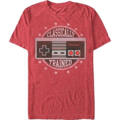 任天堂 Nintendo メンズ Tシャツ トップス NES Controller Classically Trained Short Sleeve T-Shirt Red Heathe