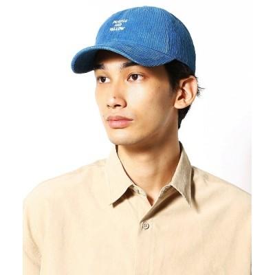 COMME CA ISM / インディゴ コーデュロイ ローキャップ MEN 帽子 > キャップ