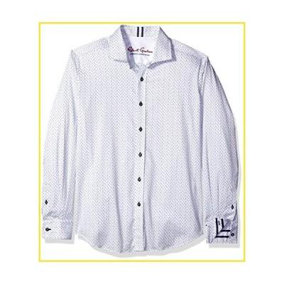 新品Robert Graham Men's Clay L/s Tailored Fit Woven Shirt, White, XXXL並行輸入品