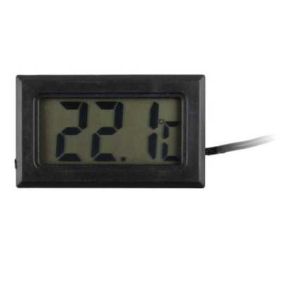 屋外リモートセンサ1Mケーブル付きコンパクトLCDモニタ温度計(5個セット)