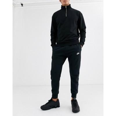 ナイキ メンズ カジュアルパンツ ボトムス Nike Club cuffed sweatpants in black