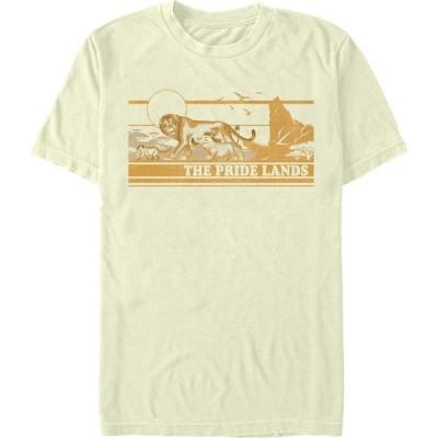 ライオンキング Lion King メンズ Tシャツ トップス Disney The Live Action Tonal Pride Lands Poster Short Sleeve T-Shirt Natural