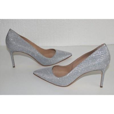 ハイヒール マノロブラニク Manolo Blahnik BB Silver Sparkle Pumps Grey Shoes Heels 41 41.5 Wedding