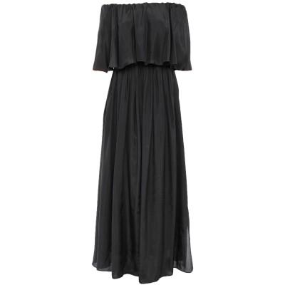 ブルネロ クチネリ BRUNELLO CUCINELLI ロングワンピース&ドレス ブラック XS シルク 100% ロングワンピース&ドレス