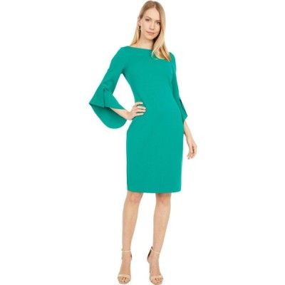 ヴィンス カムート Vince Camuto レディース トップス Textured Crepe Bodycon with Novelty Sleeve Emerald