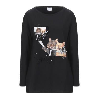 CLIPS MORE T シャツ ブラック 46 コットン 95% / ポリウレタン 5% T シャツ