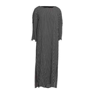 BEATRICE .b 7分丈ワンピース・ドレス ブラック 46 レーヨン 100% / アセテート / ポリエステル 7分丈ワンピース・ドレス
