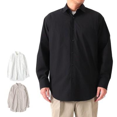 WE WILL ウィーウィル タイプライター ロングテイルシャツ W-000-5004 長袖シャツ メンズ