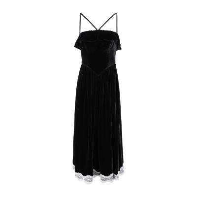 ALEXACHUNG 7分丈ワンピース・ドレス ブラック 10 レーヨン 82% / シルク 18% / ナイロン 7分丈ワンピース・ドレス