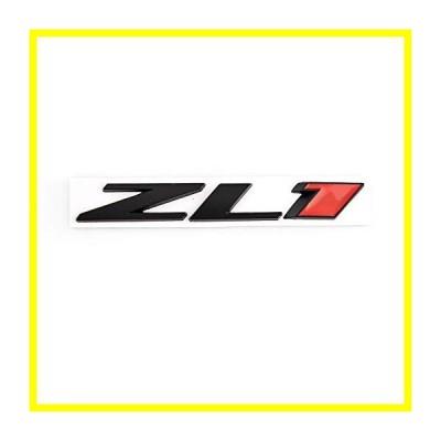 送料無料 1X ZL1 エンブレム 3D Metal Letter Badge Rear サイド ドア ステッカー Fit For ZL1 カマロ (ブラック-red) 並行輸入