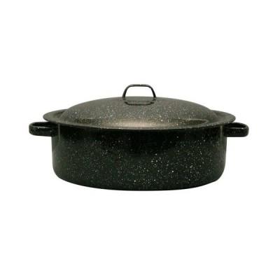 Granite Ware Covered Casserole, 5-Quart, Black