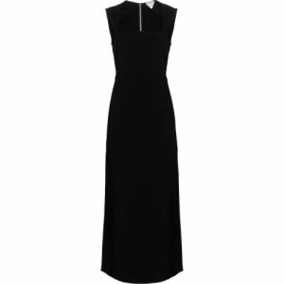 ボッテガ ヴェネタ Bottega Veneta レディース パーティードレス マキシ丈 ワンピース・ドレス stretch cady maxi dress Black