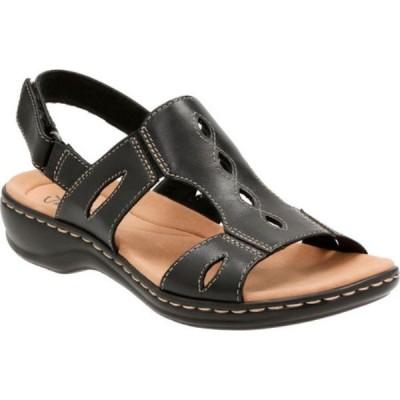 クラークス Clarks レディース サンダル・ミュール シューズ・靴 Leisa Lakelyn Cutout Slingback Black Leather