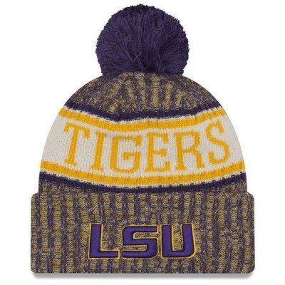 ニューエラ 帽子 アクセサリー メンズ LSU Tigers Sport Knit Hat Purple