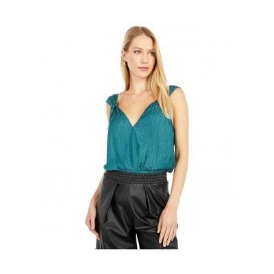 Paige ペイジ レディース 女性用 ファッション トップス シャツ Cerisa Bodysuit - Dark Aqua