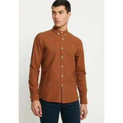 Farah メンズシャツ Farah BREWER SLIM FIT - Shirt - teak teak