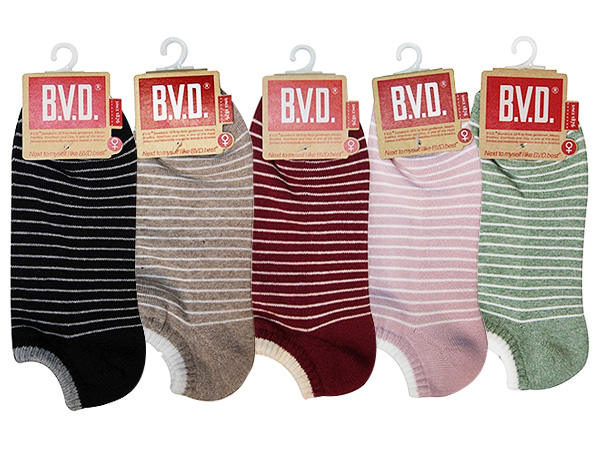 BVD~條紋毛巾底女踝襪B208(1雙入) 款式可選【D090214】