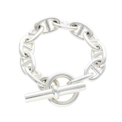 エルメス HERMES Chaine d'Ancre TGM サイズ:11LINK シェーヌダンクルTGMシルバーブレスレット 中古 SB01