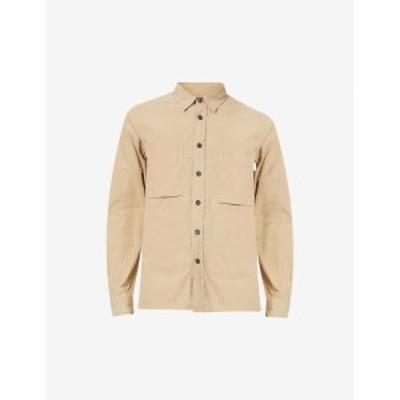 ポールスミス PS BY PAUL SMITH メンズ シャツ トップス Casual-fit stretch-cotton shirt KHAKI