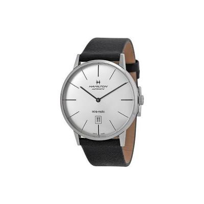ハミルトン 腕時計 Hamilton American クラシック Intra-Matic シルバー ダイヤル メンズ 腕時計 H38755751