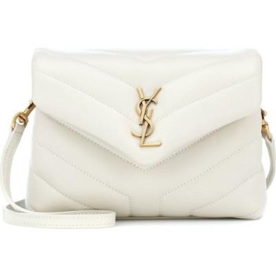 イヴ サンローラン Saint Laurent レディース ショルダーバッグ バッグ Toy Loulou leather shoulder bag Blanc Vintage