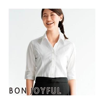 ボンユニ BONUNI 五分袖ベルカラーシャツ 04905-08