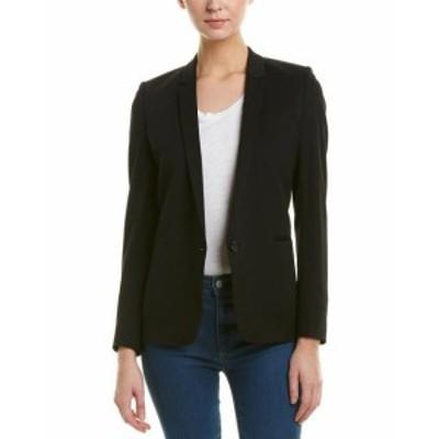 Blazer ブレザー ファッション 衣類 The Kooples Smocking Wool-Blend Blazer 42 Black