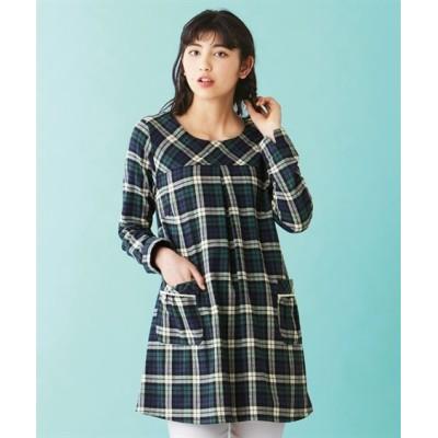 【大きいサイズ】 綿100%デザインチュニックシャツ plus size tops, テレワーク, 在宅, リモート