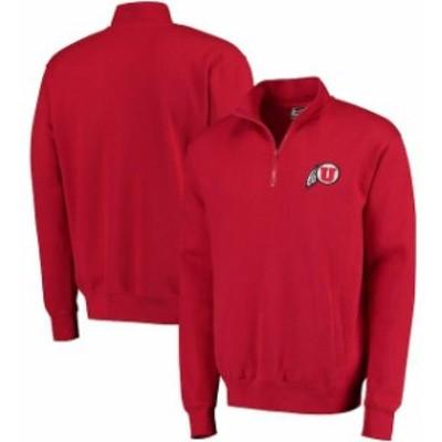 Stadium Athletic スタジアム アスレティック スポーツ用品  Utah Utes Red Logo Quarter-Zip Sweatshirt