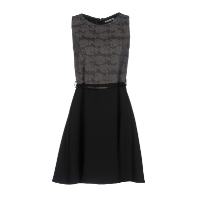 BLUEFEEL by FRACOMINA ミニワンピース&ドレス 鉛色 L ポリエステル 100% ミニワンピース&ドレス