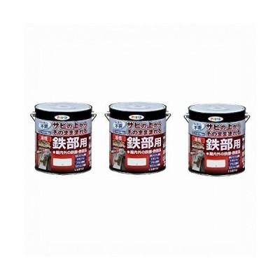 Asahipenアサヒペン 油性高耐久鉄部用 白 3L まとめ買い3缶セット
