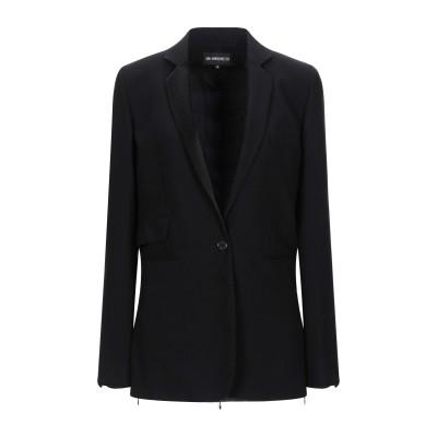 アン ドゥムルメステール ANN DEMEULEMEESTER テーラードジャケット ブラック 44 バージンウール 100% / レーヨン テーラ