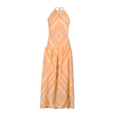 ヴァレンティノ VALENTINO ロングワンピース&ドレス オレンジ 42 シルク 100% ロングワンピース&ドレス