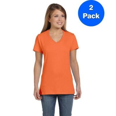 レディース 衣類 トップス Womens Nano-T V-Neck T-Shirt S04V (2 PACK) Tシャツ