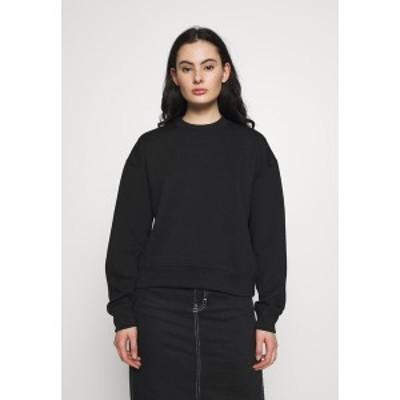 サムスサムス レディース パーカー・スウェットシャツ アウター KELSEY CREW NECK - Sweatshirt - black black