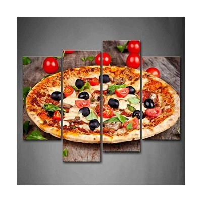 First Wall Artツョ - Pizza With Tomatoes And Leaves Wall Art Painting The Pic