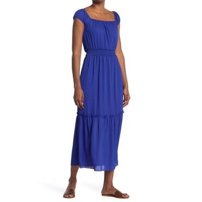エヌ・エス・アール レディース ワンピース トップス Maxi Dress w/ Smocked Waist COBALT