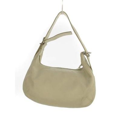 【中古】サザビー SAZABY レザー セミショルダー ショルダーバッグ ハンドバッグ 2way 鞄 カバン ホワイト 白 レディース 【ベクトル 古着】