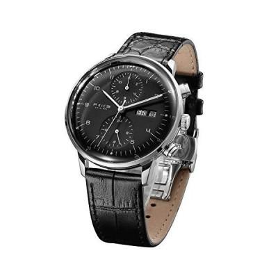 FEICE メンズ 腕時計 Bauhaus自動腕時計 ステンレススチール 機械式腕時計 カジュアルドレスウォッチ レザーバンド 日付 -FM121 3